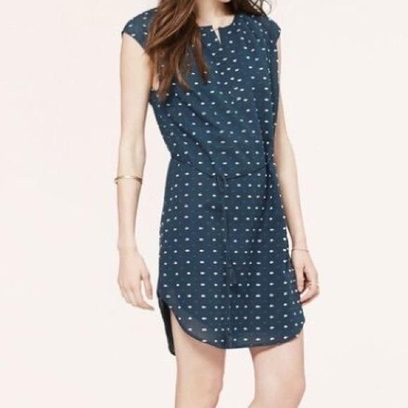 LOFT Dresses & Skirts - Loft Embroidered Dot Shirtdress